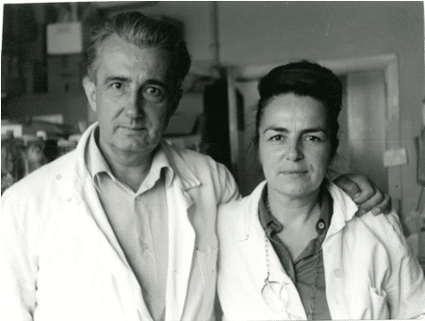Monique and Mirko Beljanski at the Pasteur Institute