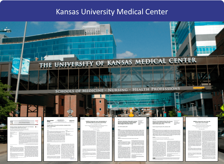 The Beljanski Foundation expands its scientific collaboration at Kansas University Medical Center with research on pancreatic and ovarian cancer