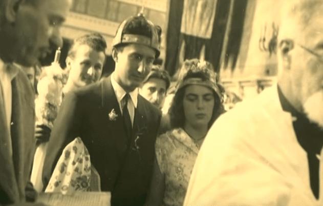 Mirko Beljanski marries French-born scientist Monique Lucas in Serbia